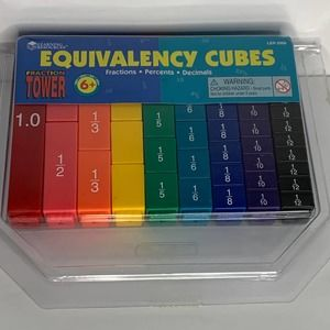 Fraction Equivalency Cubes Set, Learning Resources